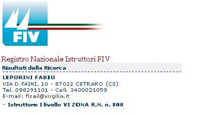 Istruttore di vela Scuola di Vela Corsi di Vela Istruttore FIV Fabio Leporini Cetraro Cosenza
