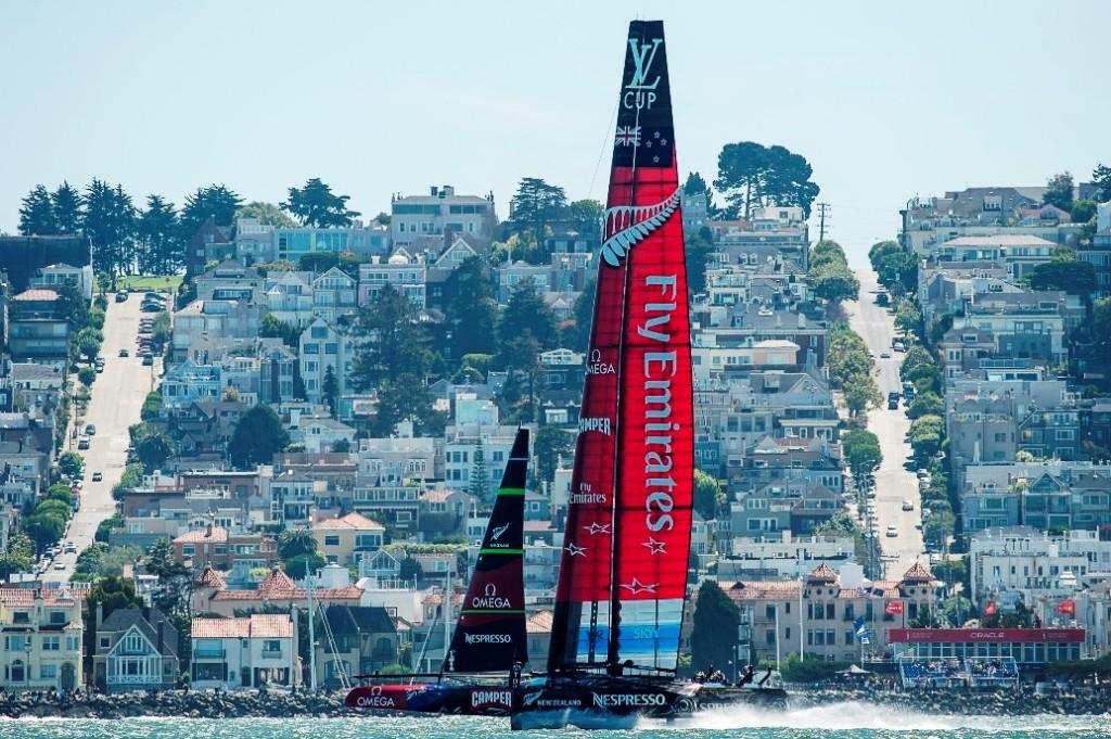 Emirates New Zealand. Race seven of the Louis Vuitton finals. 24/8/2013.