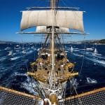 L'Amerigo Vespucci in arrivo a La Spezia per la Festa della Marineria