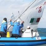 La squadra italiana della classe 470 ospite del Club Velico Crotone