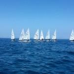 Laser in regata a Crotone durante il Campionato zonale
