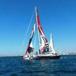 A gonfie vele nel golfo di Cagliari
