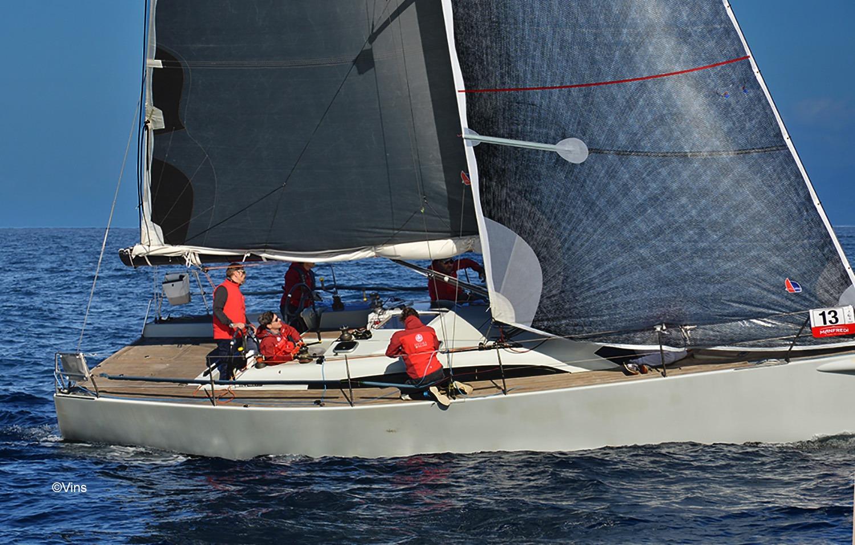 Il Mylius Hydra, vincitore del Trofeo MY Tropea 2019/2020, in un momento della regata